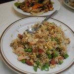 fried rice and cashew chicken