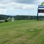 View from parking lot - Days Inn sign