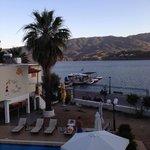 view from balcony, overlooks askeli beach