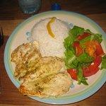 Iris' delicious chicken and coconut rice-YUM!