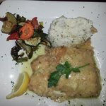 Sauteed Mahi Mahi dinner with sour cream chive mashed potatoes. delish!!!