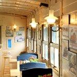 Train car cafe inside