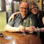 OTG wine bar toast!