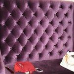 Comfy purple sofa