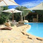 The beautiful swimming pool!