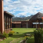 View of the  20,000 ft, (6,000 m) Andes from the hotel's garden