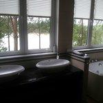 Aussicht aus unserem Badezimmer