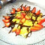 crèpes fraises sauce chocolat