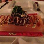 ahi tuna tataki 3 sauces, himalayan salt plate 16-