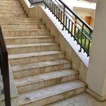 Escalier dans l'hôtel