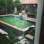 The plunge pool at the Hill Villa