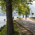 Bike path around Lake Annecy