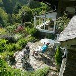 Our genial hosts enjoying their garden