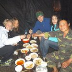 Our dinner in one of the camps with the guide