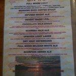 Mudshark Brew list