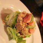 'Prawn avocado' and crab salad