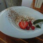 Tiramisu ananas confit et caramel