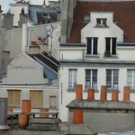 Paris Rooftops with Chimneys