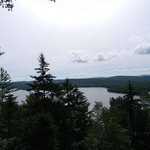 View of Big Moose Lake from top of Billy's Squash Hiking Trail