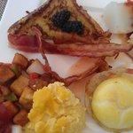 Breakfast buffet offerings