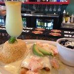 Seafood Enchilada and Premium Margarita!!