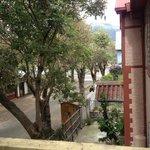 Taken from a second floor balcony that overlooks Juan Rodriguez