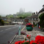 Mist over Corfe Castle