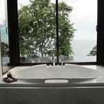 Bathing area overlooking the infinit pool