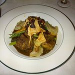 Lamb with curry dumplings