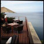 De la terrasse du restaurant.