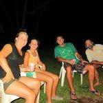 Bonfire after a nocturnal safari