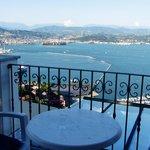 Blick vom Balkon!