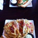 Fish Tacos and Shrimp Po Boy