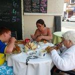 eating at the best cafe at Bridlington