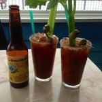 A Bloody Mary and a Pacifico? Yes, please.
