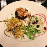insalata di Venere con gamberi e verdure fresche