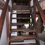 escada para o apartamento - um pé por vez