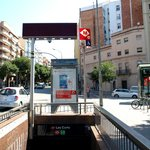 Les Corts Metro - just outside the apartments
