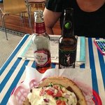 fabulous gyro and great selection of eclectic beer