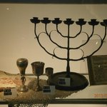 Shabbat candle holder, kiddish cups