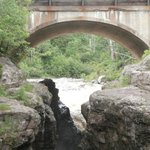 Falls under Hwy 61 bridge before river enters Superior