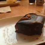 warmed brownie