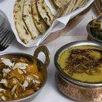 Balti dish and saffron korma