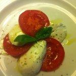Fresh tomatoes, basil, mozarella -- perfect appetizer
