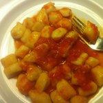 daily pasta (gnochi in light tomato sauce)