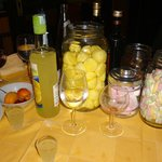All the free candy and limoncello you could want!