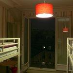 bunk beds & door to the balcony