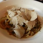 Pig skin pasta with summer truffles