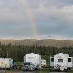 Beautiful rainbow outside our cabin at Koa Hinton/Jasper campground