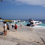 Arriving by ferry on Nusa Penida island